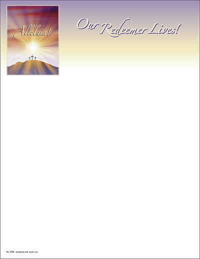 "Sunrise ""Alleluia Our Redeemer Lives"" Letterhead (Package of 100)"