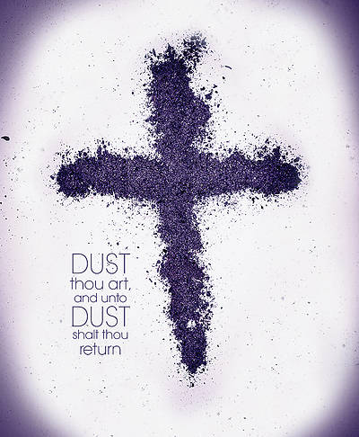 Picture of Dust Thou Art Cross Ash Wednesday Legal Size Bulletin