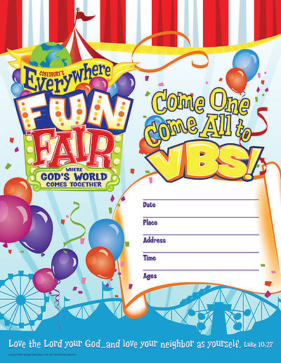 Vacation Bible School 2013 Everywhere Fun Fair Small Promotional Poster VBS