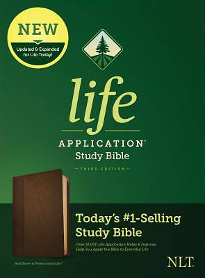 Picture of NLT Life Application Study Bible, Third Edition (Leatherlike, Dark Brown/Brown)