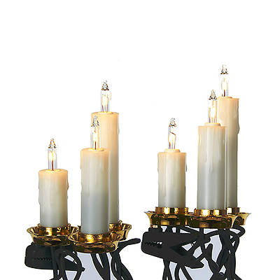 Picture of UL 15-Light White Triple Candle Light Set