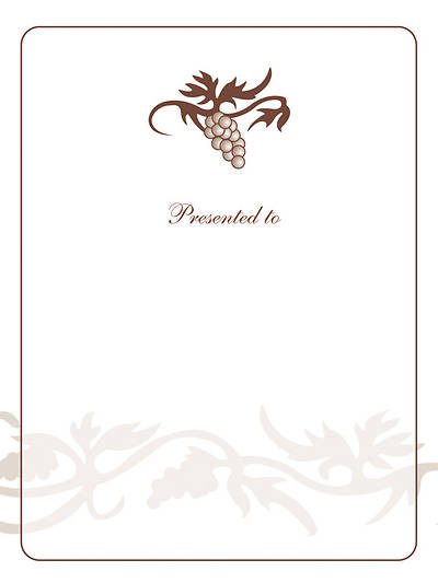 Grape Cluster Bookplate - Presented To [Pack of 15]