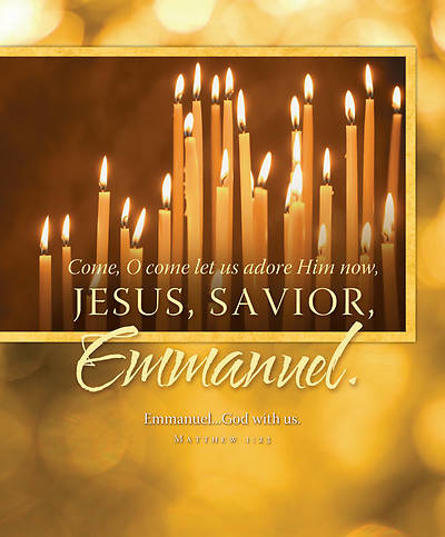 Jesus, Savior, Emmanuel Candlelight Service Bulletin, Large  (Package of 100)
