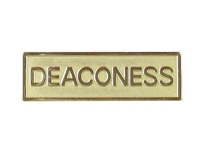 Gold Metal Deaconess Pin-On Badge