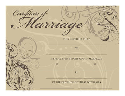Certificate of Marriage – Contemporary Design - Download