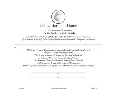 Picture of Software Certificate of Dedication of a Home Download