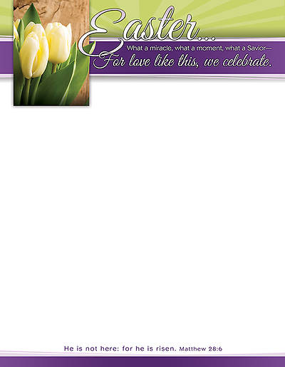 Easter Letterhead Matthew 28:6, Package of 100