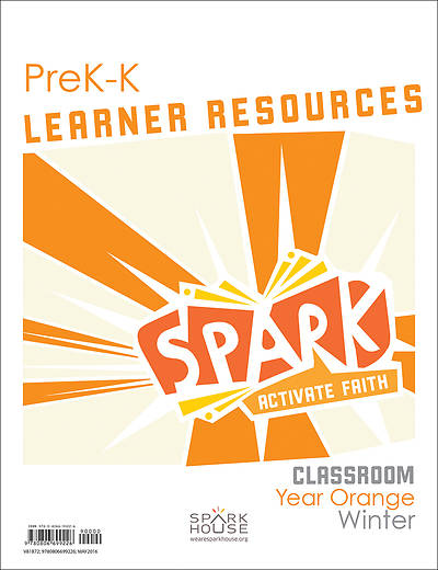 Spark Classroom PreK-Kindergarten Learner Leaflet Year Orange Winter