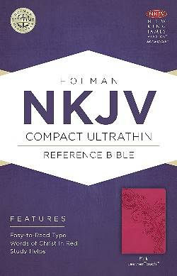 Picture of NKJV Compact Ultrathin Bible, Pink Leathertouch