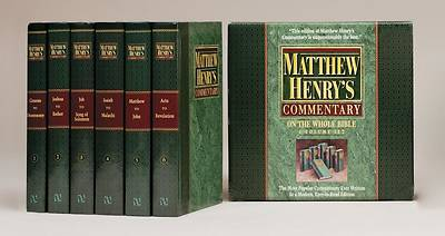 Matthew Henrys Commentary on the Whole Bible: 6 Volume Set