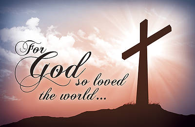 Postcard - For God So Loved the World - John 3:16 (PK 25)