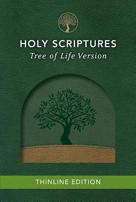 Picture of Tlv Thinline Bible, Holy Scriptures, Grove/Sand, Tree Design Duravella