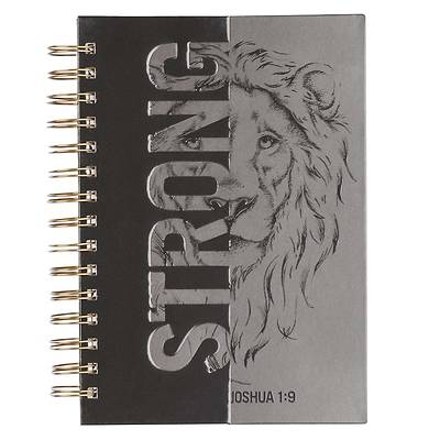 Picture of Large Wire Journal Be Strong Joshua 1