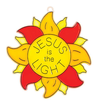 Picture of Vacation Bible School VBS 2021 God's Wonder Lab PK12 Jesus the Light Suncatcher Craft