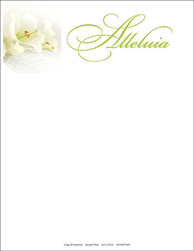 Alleluia Easter Lilies Letterhead 2014 (Package of 50)