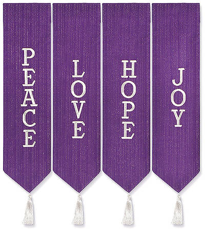 Picture of Advent Wreath Banners - Purple with White
