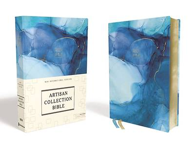 Picture of NIV Artisan Collection Bible, Cloth over Board, Blue, Art Gilded Edges, Red Letter Edition, Comfort Print