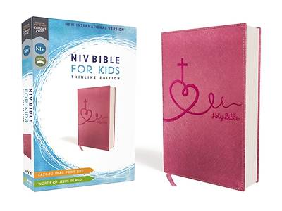NIV Bible for Kids, Imitation Leather, Pink, Red Letter Edition, Comfort Print