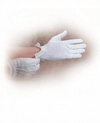 Picture of White Cotton Gloves Small