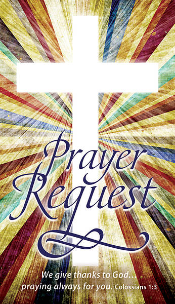 Prayer Request Card Colossians 1:3