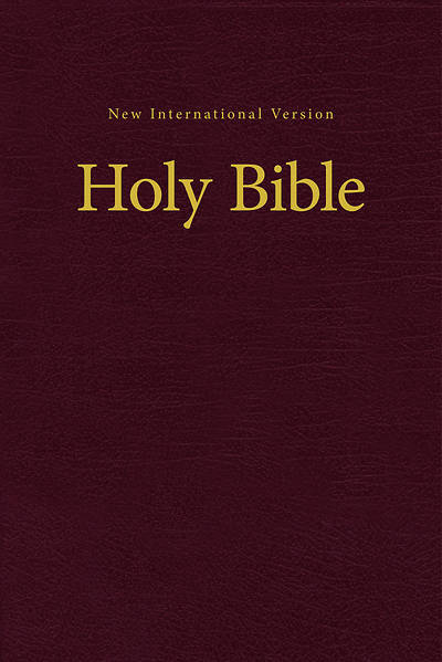 NIV Value Pew and Worship Bible Hardcover Burgundy