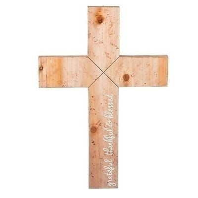 """Picture of Barnwood Style Wall Cross 18"""""""