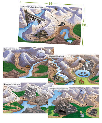 Picture of Vacation Bible School (VBS) 2020 Rocky Railway Giant God Sightings Posters (set of 5)