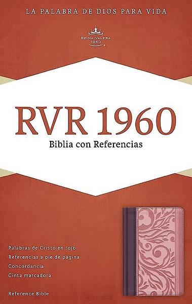 Picture of Rvr 1960 Biblia Con Referencias, Borravino/Rosado Simil Piel