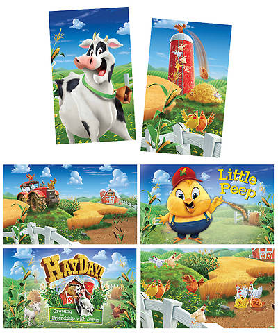 Group VBS 2013 Weekend HayDay Giant Decorating Poster Pack (set of 6)