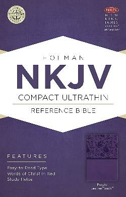 Picture of NKJV Compact Ultrathin Bible, Purple Leathertouch