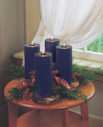 Advent Wreath Pillar Candle Purple 4