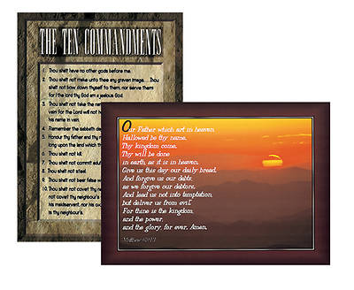 Ten Commandments/Lords Prayer Poster Set