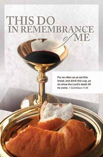 Picture of This Do In Remembrance Gold Chalice Bulletin, Regular Size (Package of 100)