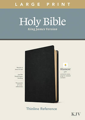Picture of KJV Large Print Thinline Reference Bible, Filament Enabled Edition (Red Letter, Genuine Leather, Black)