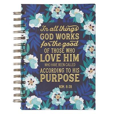 Picture of Large Wire Journal in All Things God Works for Good Rom. 8