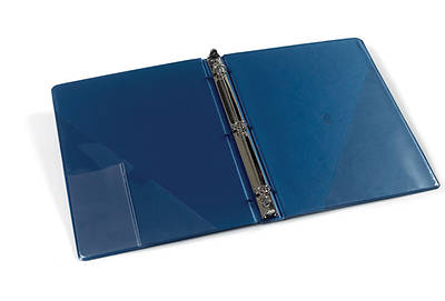 """Picture of 3-ring anthem binder 1 1/4"""" - prussian blue"""