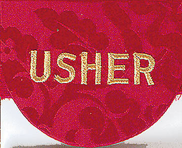 Red Usher Pocket Badge - Package of 4