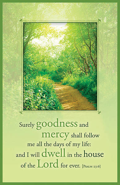 Picture of Psalm 23:6 Funeral Regular Size Bulletin