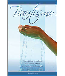 Baptism Bulletin Acts 2:38 Spanish (Package of 100)