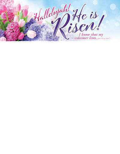Picture of Hallelujah He is Risen Easter Letterhead (Pkg of 100)