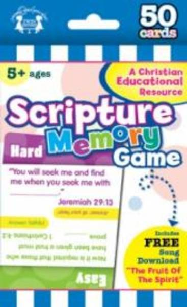 Scripture Memory Game 50 CT Flash Cards