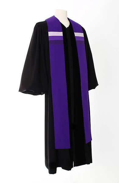 Picture of Triune Stripe Stole - Purple