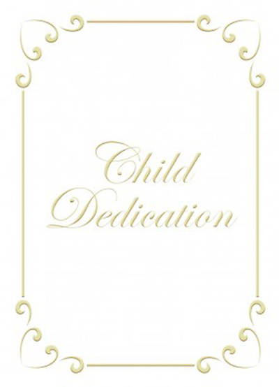 Picture of Certificate Child Dedication Psalm 127:3 Package of 6