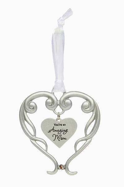 Picture of Amazing Mom Heart Ornament 4""