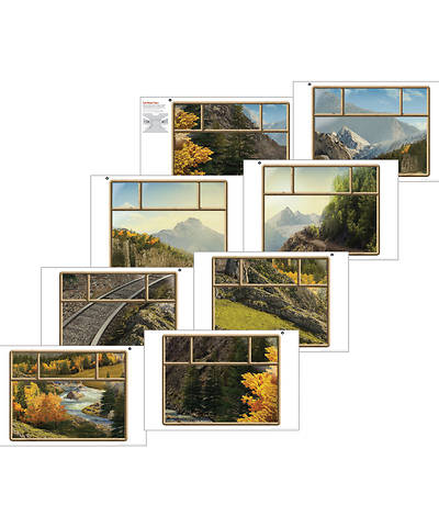 Picture of Vacation Bible School (VBS) 2020 Rocky Railway Train Window Posters (set of 8) (22''x34'')