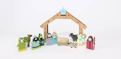 Picture of Children's Wooden Nativity Set - 11Pc