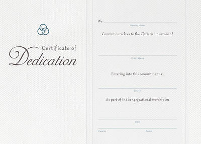 Flat Dedication Certificate