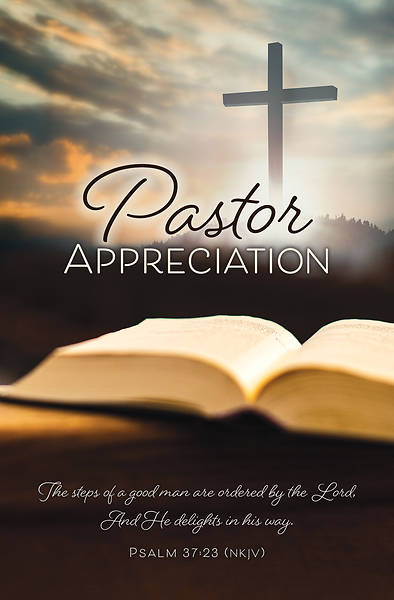 Picture of Bible and Cross Pastor Appreciation Regular Size Bulletin
