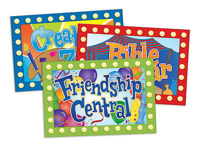 Vacation Bible School 2013 Everywhere Fun Fair Activity Center Signs & Publicity Pak VBS (16 four-color signs)