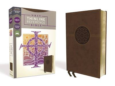NRSV Thinline Reference Bible, Leathersoft, Brown, Comfort Print